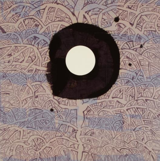 """לארי אברמסון, """"שושנת יריחו XXV"""",שנה 2008, שמן ואקריליק על בד, 100X100 ס""""מ, אוסף האמן"""
